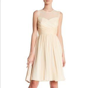 J. Crew Ivory Clara dress in silk chiffon Size 6